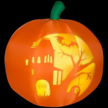 5 ft. H Panoramic Projection Inflatable Pumpkin
