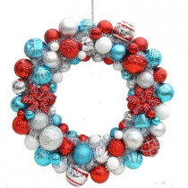 24 in. North Pole Shatter-Resistant Ornament Wreath