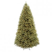 9 ft. FEEL-REAL Downswept Douglas Fir Artificial Christmas Tree with 900 Clear Lights