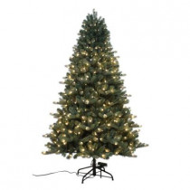 7.5 ft. Spruce Quick-Set Artificial Christmas Tree with 600 9-Function LED Lights and Remote Control