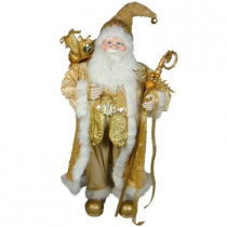 Plush Collection 36 in. Gold Santa