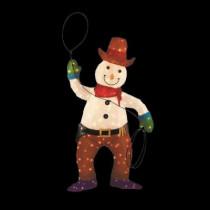 4 ft. Pre-Lit Tinsel Cowboy Snowman