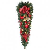 42 in. Decorative Collection Artificial Teardrop with 50 Clear Lights