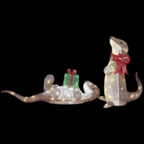 Pre-Lit Playful Otters (Set of 2)