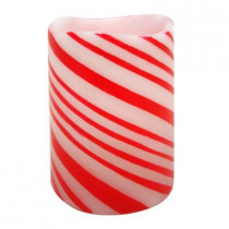 4 in. Candy Cane LED Candles (Set of 2)