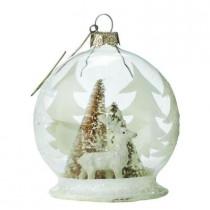 3.5 in. Deer Winter Globe Ornament