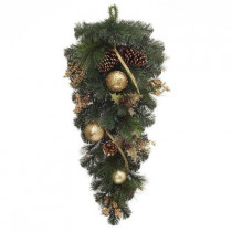 32 in. Unlit Golden Holiday Artificial Swag