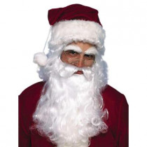 Economy Santa Beard and Wig Set
