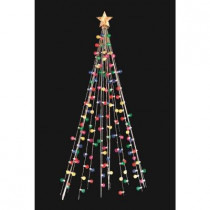 7 ft. Cone Tree with 140 Multi-Color Lights