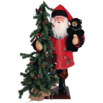 20 in. Pine Cone Santa with Tree