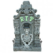 36 in. Halloween Tombstone with LED Lights, Sound and Motion Sensor