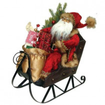 18 in. Santa Riding His Sleigh with Gifts