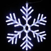25 in. 102-Light White LED Hanging Snowflake Decor