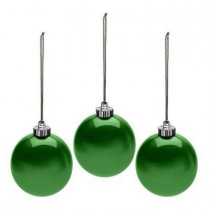 6 in. Outdoor Pearlized Green New Ornament (Set of 3)