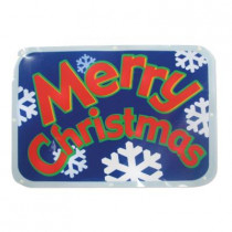 "Battery-Operated 16 in. LED Light Show Window Sign ""Merry Christmas"""