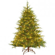 6.5 ft. Feel-Real Fraser Grande Artificial Christmas Tree with 550 Clear Lights