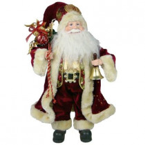 Plush Collection 18 in. Burgundy Santa