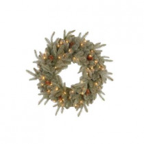 30 in. Feel-Real Alaskan Spruce Artificial Wreath with Pinecones