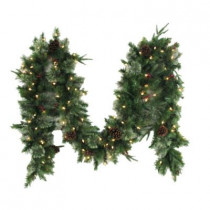 12 ft. Syracuse Cashmere Berry Artificial Garland with 100 Clear Lights