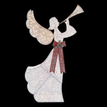 8 ft. Pre-Lit Angel with Horn