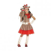 Girls Sock Monkey Costume
