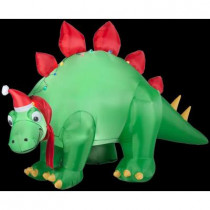 5.7 ft. H Inflatable Holiday Stegosaurus with Santa Hat