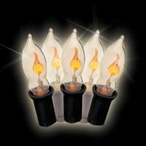 C7 7-Light Yellow Halloween Flicker Flame Light Set (Set of 2)