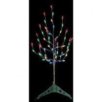 3 ft. Pre-Lit LED Artificial Christmas Tree with Multi Color Lights