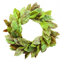 24 in. Artificial Wreath with Magnolia Leaves
