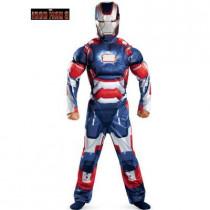 Boys Iron Man Iron Patriot Classic Muscle Costume