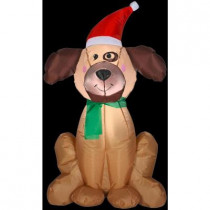 3.5 ft. H Inflatable Holiday Dog
