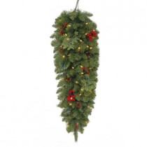 36 in. Battery Operated Winslow Artificial Teardrop with 50 Clear LED Lights