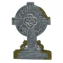 Mossy Celtic Cross Tombstone