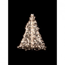 3 ft. Indoor/Outdoor Pre-Lit Incandescent Artificial Christmas Tree with White Frame and 200 Clear Lights