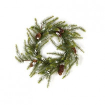Evergreen Collection 24 in. Snow Pine Artificial Christmas Wreath (Pack of 2)