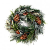 Evergreen Collection 36 in. Pine, Eucalyptus, and Juniper Artificial Christmas Wreath