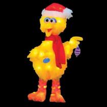 18 in. Pre-Lit Sesame Street Big Bird with Scarf