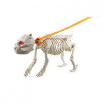 18.5 in. Animated Skeleton Dog with Light and Sound