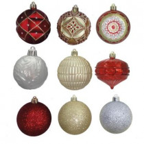 3 in. Cranberry Frost Shatter-Resistant Christmas Ornament (75-Count)