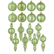 Champagne and Gold Shatterproof Ornaments in Assorted Shapes (16-Pack)