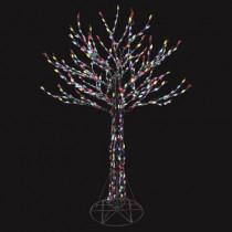 6 ft. LED Deciduous Tree Sculpture with Multi-Color Lights