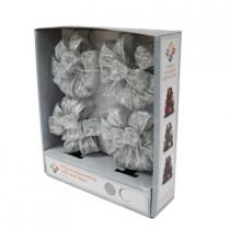 4 in. White LED Light Mini Bows (4-Pack)