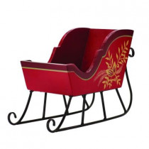 9 in. Red Wood Sleigh