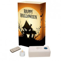 LED Clear Haunted House Luminaria Kit with Remote (Pack of 10)