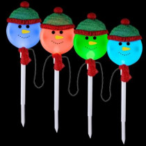 Snowman Pathway Stakes (Set of 4)