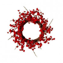 Floral Collection 22 in. Blossom Artificial Christmas Wreath (Pack of 2)