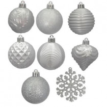 2.3 in. Silver Shatter-Resistant Christmas Ornament (101-Pack)